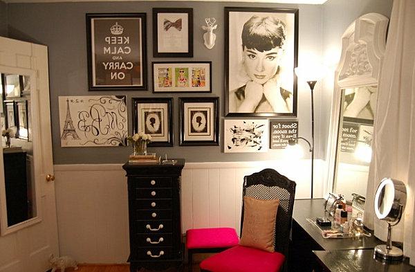 Le meuble de rangement de maquillage organisez vos trucs Meuble avec plusieurs tiroirs