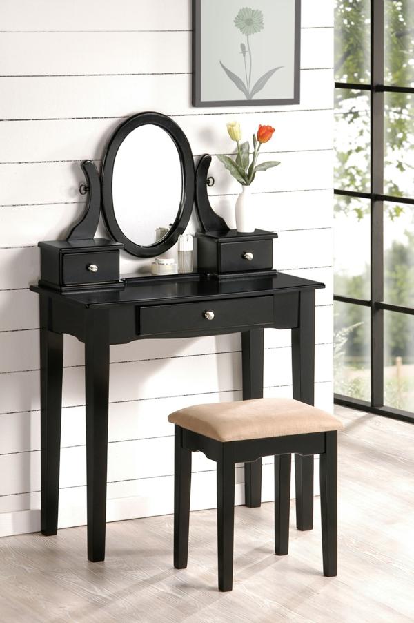 meuble-de-rangement-de-maquillage-une-table-noire-rectangulaire-avec-un-miroir-oval-et-une-grande-fenêtre