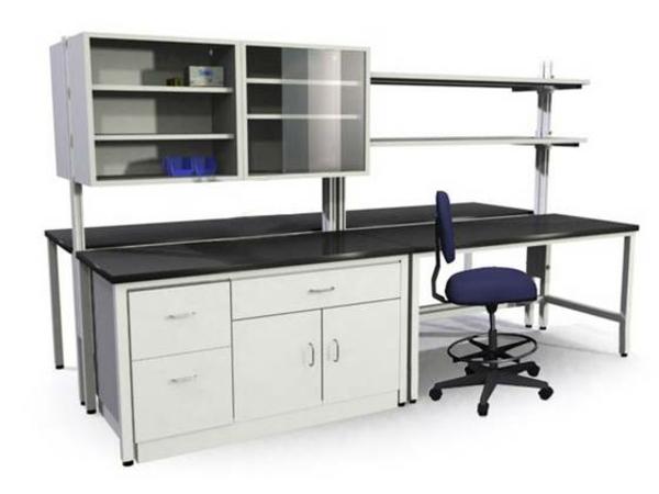meuble-en-acier-bureau-et-étagère