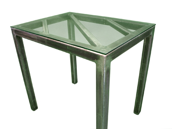 meuble-en-acier-et-verre-table