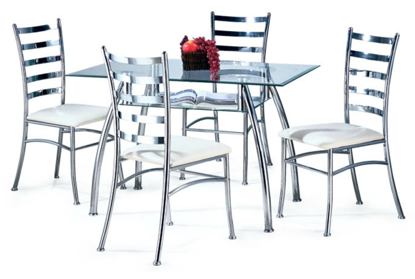 meuble-en-acier-table-et-chaises