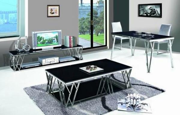 meuble-en-acier-table-dans-une-pièce-d'ameublement-moderne