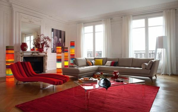 meuble-roche-bobois-chaises-longues-rouges