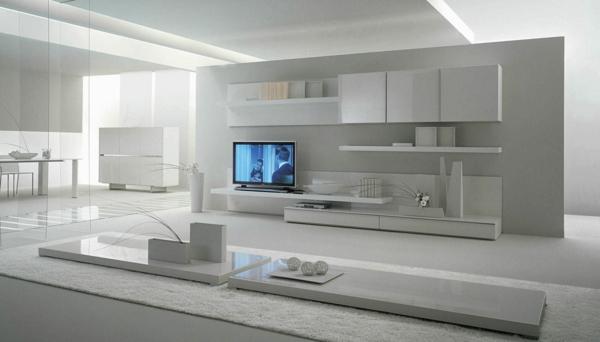Cr ez un beau style de votre salle de s jour avec un for Meuble sejour blanc