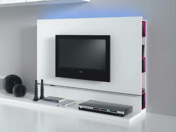 meuble-tv-laqué-blanc-avec-des-niches-de-rangement
