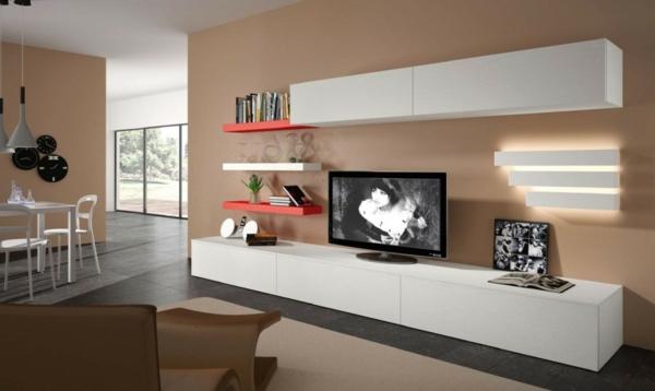 Cr ez un beau style de votre salle de s jour avec un meuble tv laqu blanc for Meuble tv bas blanc laque