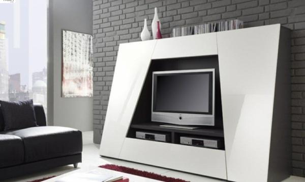 meuble-tv-laqué-blanc-en-formes-originales