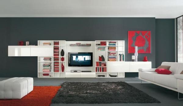 Cr ez un beau style de votre salle de s jour avec un for Meuble living blanc