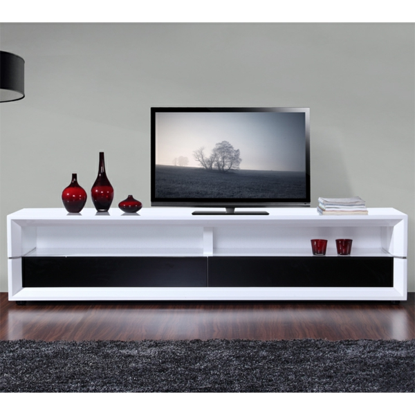 meuble tv noir et rouge maison design. Black Bedroom Furniture Sets. Home Design Ideas