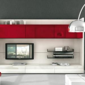 Créez un beau style de votre salle de séjour avec un meuble tv laqué blanc