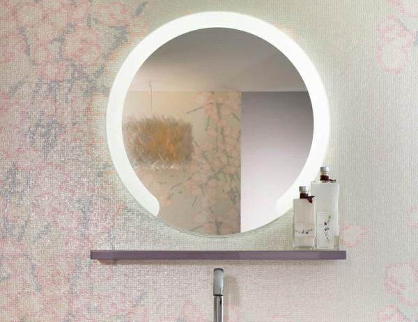 ✿ Modèles de miroirs ronds pour la salle de bain