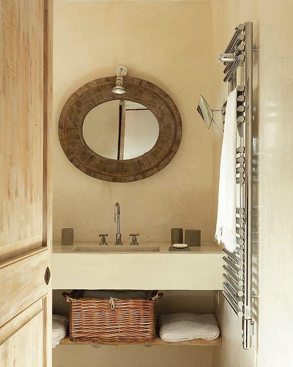 Mod les de miroirs ronds pour la salle de bain - Miroir mural original ...