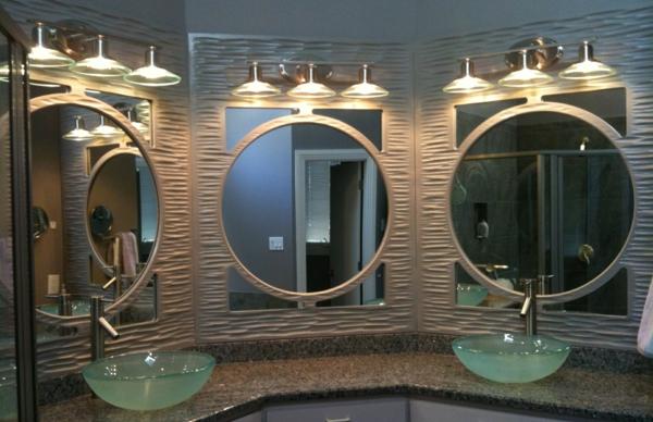Mod les de miroirs ronds pour la salle de bain - Miroir trois faces salle de bain ...