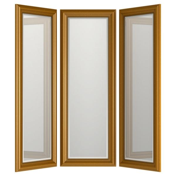 miroir-triptyque-en-cadre-doré