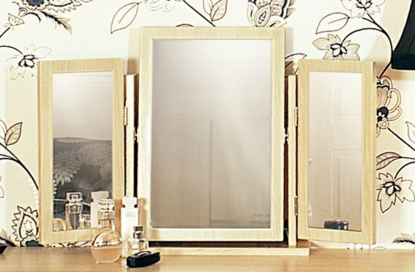 Beautiful miroir triptyque gallery for Miroir triptyque ikea