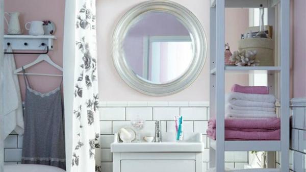 Mod les de miroirs ronds pour la salle de bain for Miroir baroque pour salle de bain