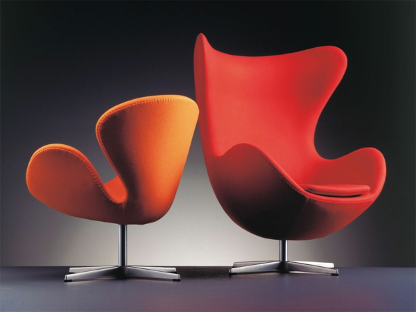 mobilier-de-design-contemporain-des-chaises-rouge-très-confortables