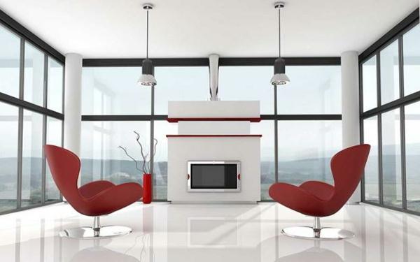 mobilier-de-design-contemporain-une-chambre-lumineuse-d'ameublement-moderne