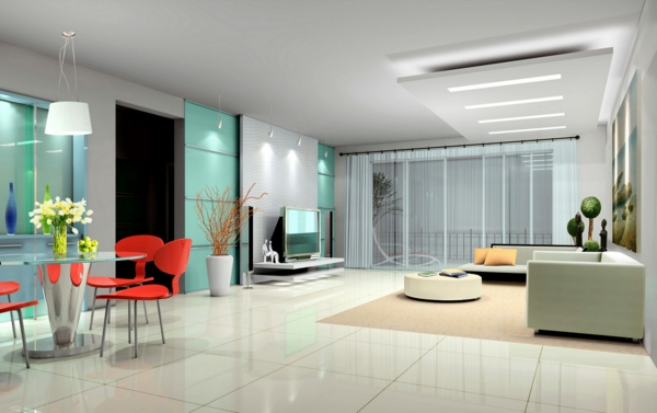 mobilier-de-design-contemporain-une-salle-de-séjour-vaste-et-moderne