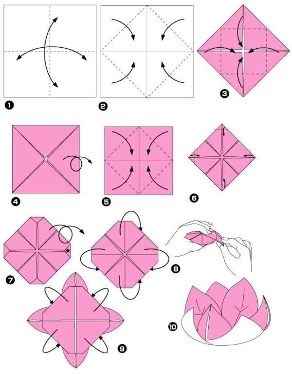 un origami facile fleur offrir ou pour vous amuser. Black Bedroom Furniture Sets. Home Design Ideas