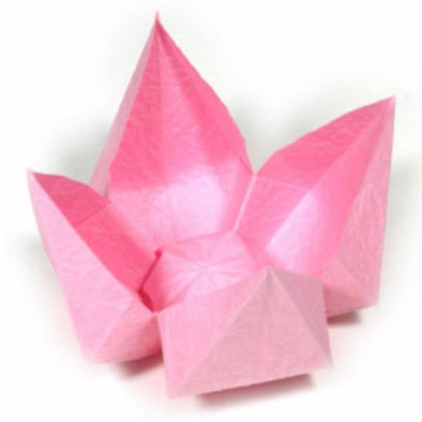 Un origami facile fleur offrir ou pour vous amuser - Video de origami facile ...