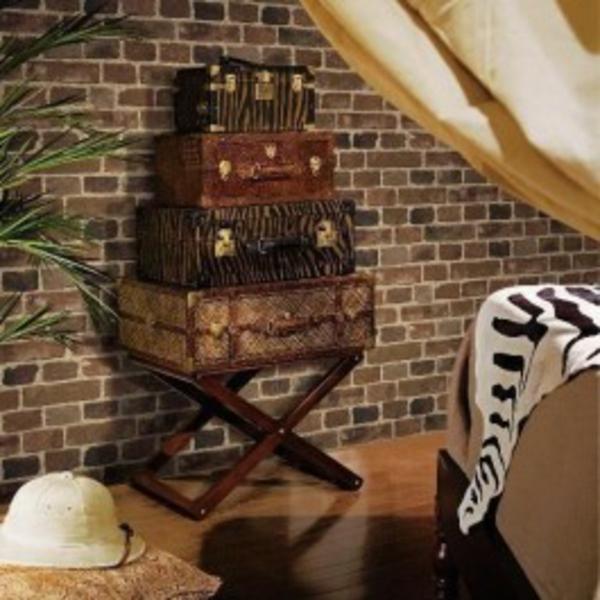 papier-peint-brique-valises