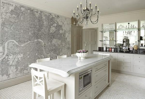 le papier peint de cuisine vous recouvre d 39 une fra cheur et provoque votre bon app tit. Black Bedroom Furniture Sets. Home Design Ideas