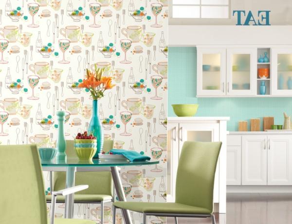 papier-peint-de-cuisine-clair-aux-motifs-mignons