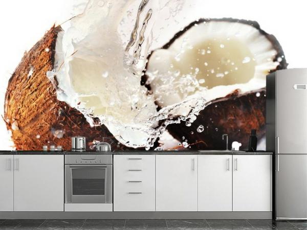 le papier peint de cuisine vous recouvre dune fracheur et provoque votre bon apptit
