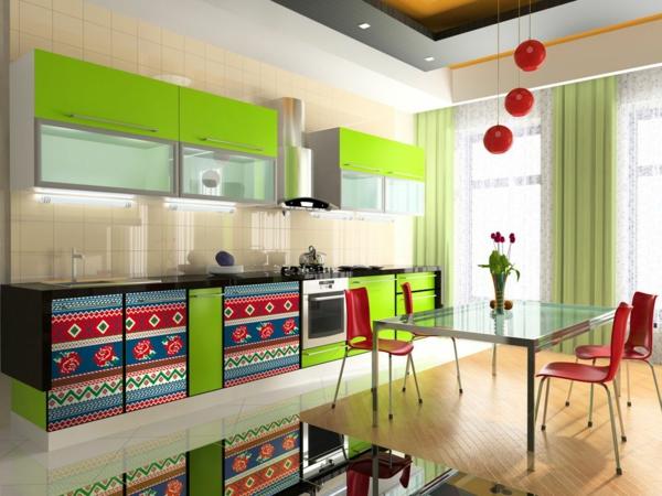 Le papier peint de cuisine vous recouvre d 39 une fra cheur Papier peint meuble cuisine