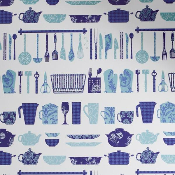 Accessoires cuisine bleu for Papier de cuisine
