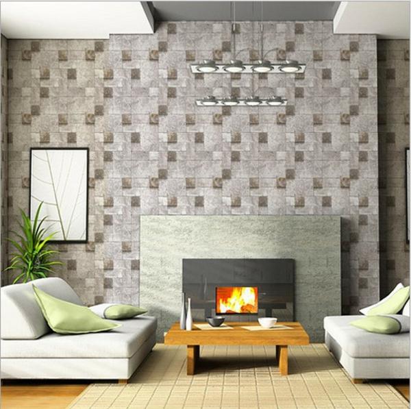 papier peint effet brique gris. Black Bedroom Furniture Sets. Home Design Ideas