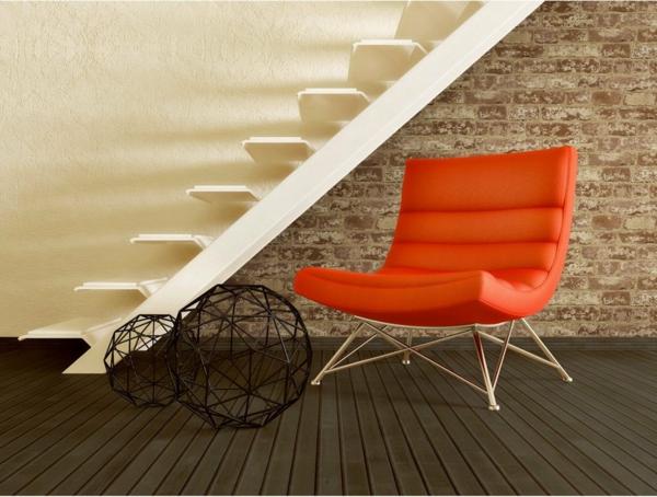 papier-peint-imitation-brique-fauteuil-escalier