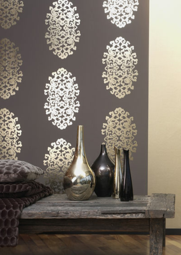 Les papiers peints originaux vont transformer l 39 ambiance la maison a - Table pour papier peint ...