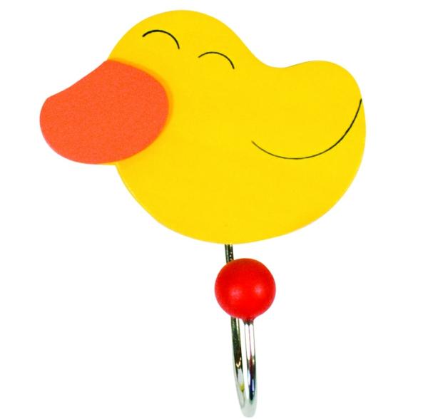 patère-pour-enfant-canard-jaune