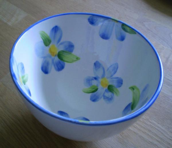 peinture-sur-ceramique-creative-amusante-assiete-fleurs-bleus