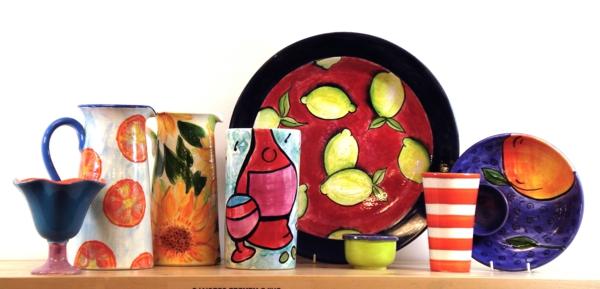 peinture-sur-ceramique-creative-amusante-citrons-tasses