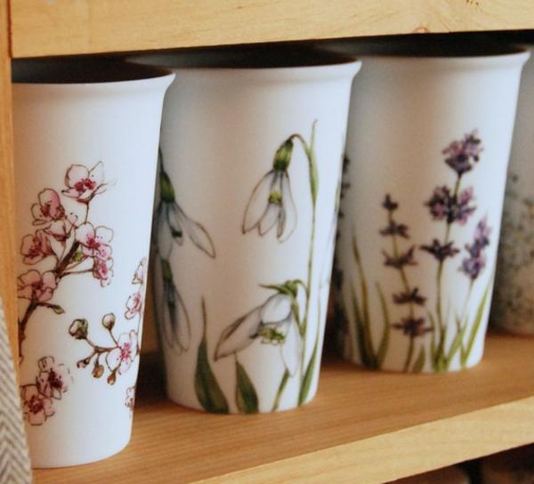 peinture-sur-ceramique-creative-amusante-idee-fleurs