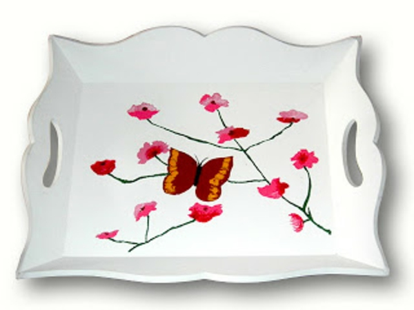 peinture-sur-ceramique-creative-amusante-papillon
