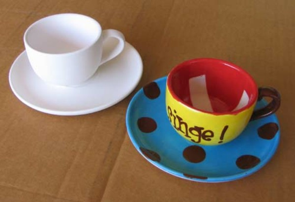 peinture-sur-ceramique-creative-amusante-tasse-a-cafe