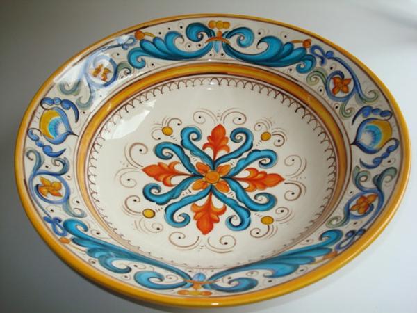 peinture-sur-ceramique-creative-amusante-vaisselle-assiette