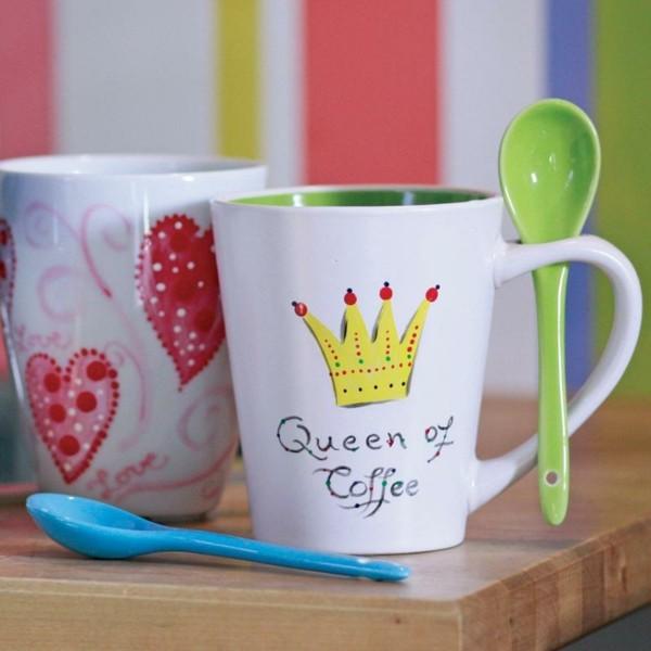 peinture-sur-ceramique-creative-amusante-vaisselle