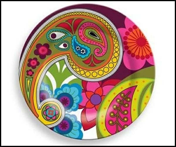 peinture-sur-ceramique-creative-amusante-vaisselle-fleurs-couleurs-vives