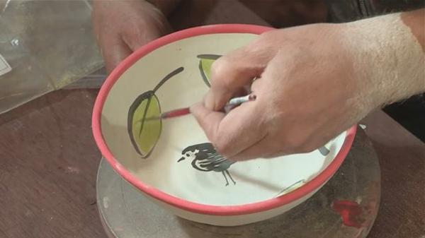 peinture-sur-ceramique-creative-amusante-vaisselle-oiseau
