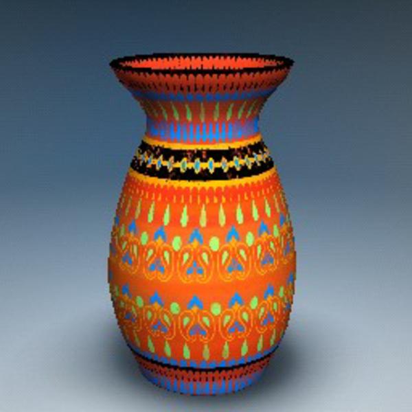 peinture-sur-ceramique-creative-amusante-vase-multicoolore