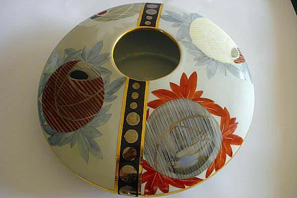 peinture-sur-ceramique-creative-amusante-vase-sphere