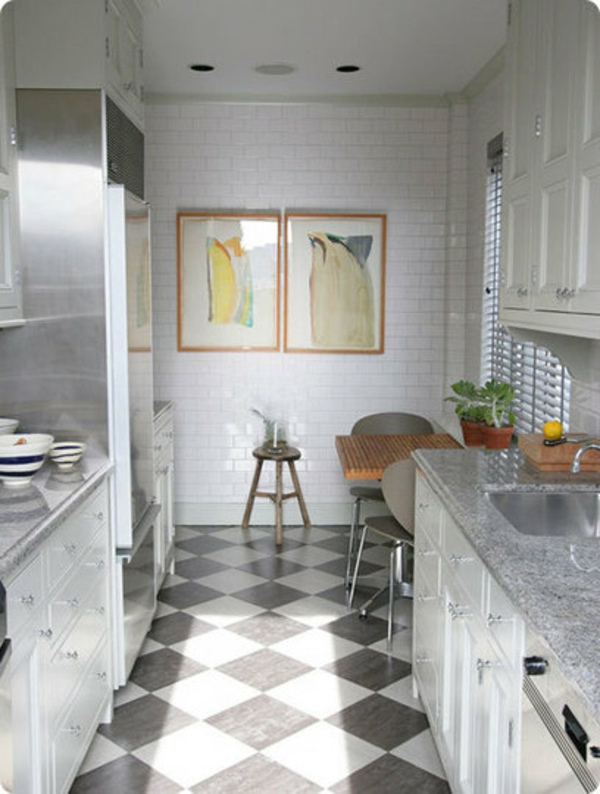 Black and white bathroom floor tile ideas