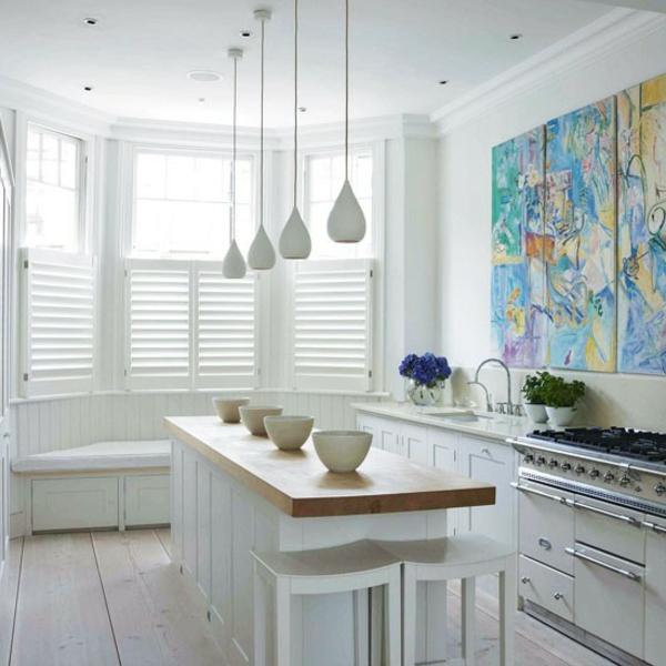 La petite cuisine design nous invite au confort et le style - Petite cuisine rectangulaire ...
