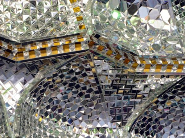 plafond-avec-miroir-à-Téhéran