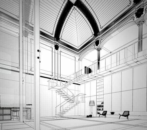 plan-de-chambre-scandinave-art-et-déco - architecture-
